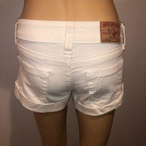 True Religion Shorts - True religion white Allie shorts size 25